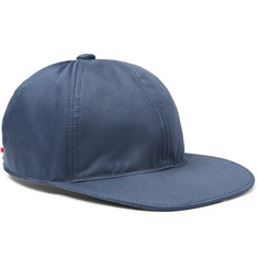 Thom Browne Grosgrain-Trimmed Cotton-Twill Baseball Cap