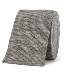 Thom Browne - 5cm Striped Knitted Mélange Wool Tie