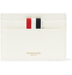 Thom Browne Tennis Racket-Printed Pebble-Grain Leather Cardholder