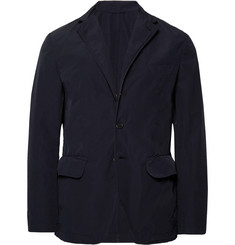 Aspesi Navy Slim-Fit Garment-Dyed Shell Blazer
