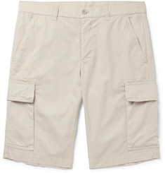 Aspesi Slim-Fit Garment-Dyed Cotton-Twill Cargo Shorts