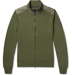 Belstaff Kelby Shell-Trimmed Virgin Merino Wool Zip-Up Cardigan