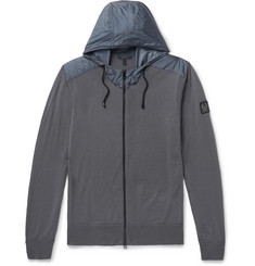 Belstaff Aldlington Shell-Trimmed Virgin Wool Zip-Up Hoodie