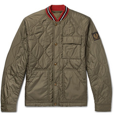 Belstaff Haverford Stripe-Trimmed Quilted Shell Bomber Jacket