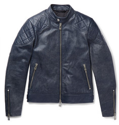 Belstaff Outlaw 2.0 Burnished-Leather Blouson Jacket