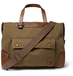 Belstaff Colonial Leather-Trimmed Canvas Bag