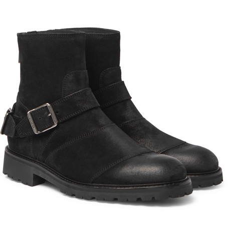 a6b2423fa3 Belstaff Trialmaster Waxed-Suede Boots In Black | ModeSens