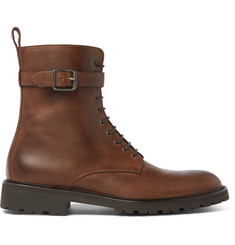 Belstaff Paddington Buckled Leather Boots
