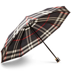 Burberry - Checked Collapsible Umbrella