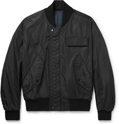 Burberry Reversible Black Watch Checked Cotton-Twill Bomber Jacket