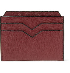 Valextra - Pebble-Grain Leather Cardholder