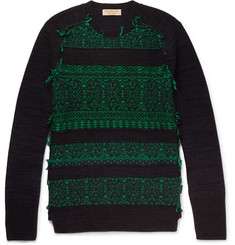 Burberry Distressed Fair Isle Wool-Blend Sweater