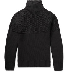Burberry - Textured Cashmere Mock Neck Sweater