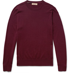 Burberry - Slim-Fit Check-Trimmed Cashmere Sweater