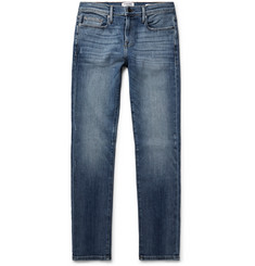 FRAME - L'Homme Skinny-Fit Distressed Stretch-Denim Jeans