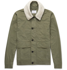 Albam - Faux Shearling-Trimmed Cotton-Twill Jacket