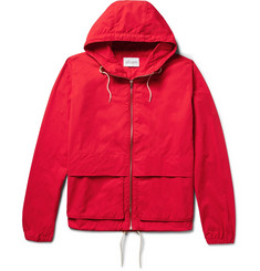 Albam Waterproof Nylon and Cotton-Blend Hooded Jacket