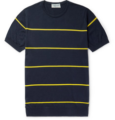 John Smedley  Striped Sea Island Cotton T-Shirt