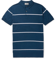 John Smedley - Striped Sea Island Cotton Polo Shirt