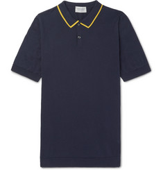 John Smedley Klerk Striped Sea Island Cotton Polo Shirt