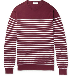 John Smedley Redfree Striped Sea Island Cotton Sweater