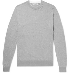 John Smedley Rodney Layered Sea Island Cotton Sweater
