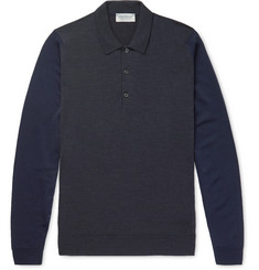 John Smedley Hindlow Two-Tone Merino Wool Sweater