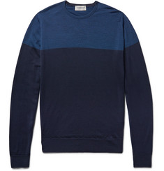John Smedley Colour-Block Wool Sweater