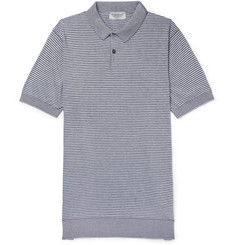 John Smedley Etton Striped Sea Island Cotton Polo Shirt