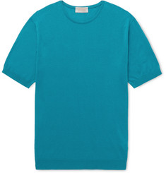 John Smedley Stonwell Slim-Fit Sea Island Cotton and Cashmere-Blend T-Shirt