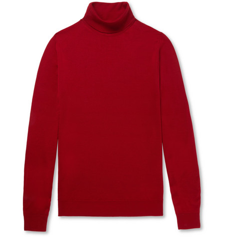 Merino Smedley Virgin Rollneck John Cherwell Wool Red Sweater In l1FK3TJc