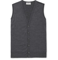 John Smedley - Huntswood Mélange Merino Wool Sweater Vest
