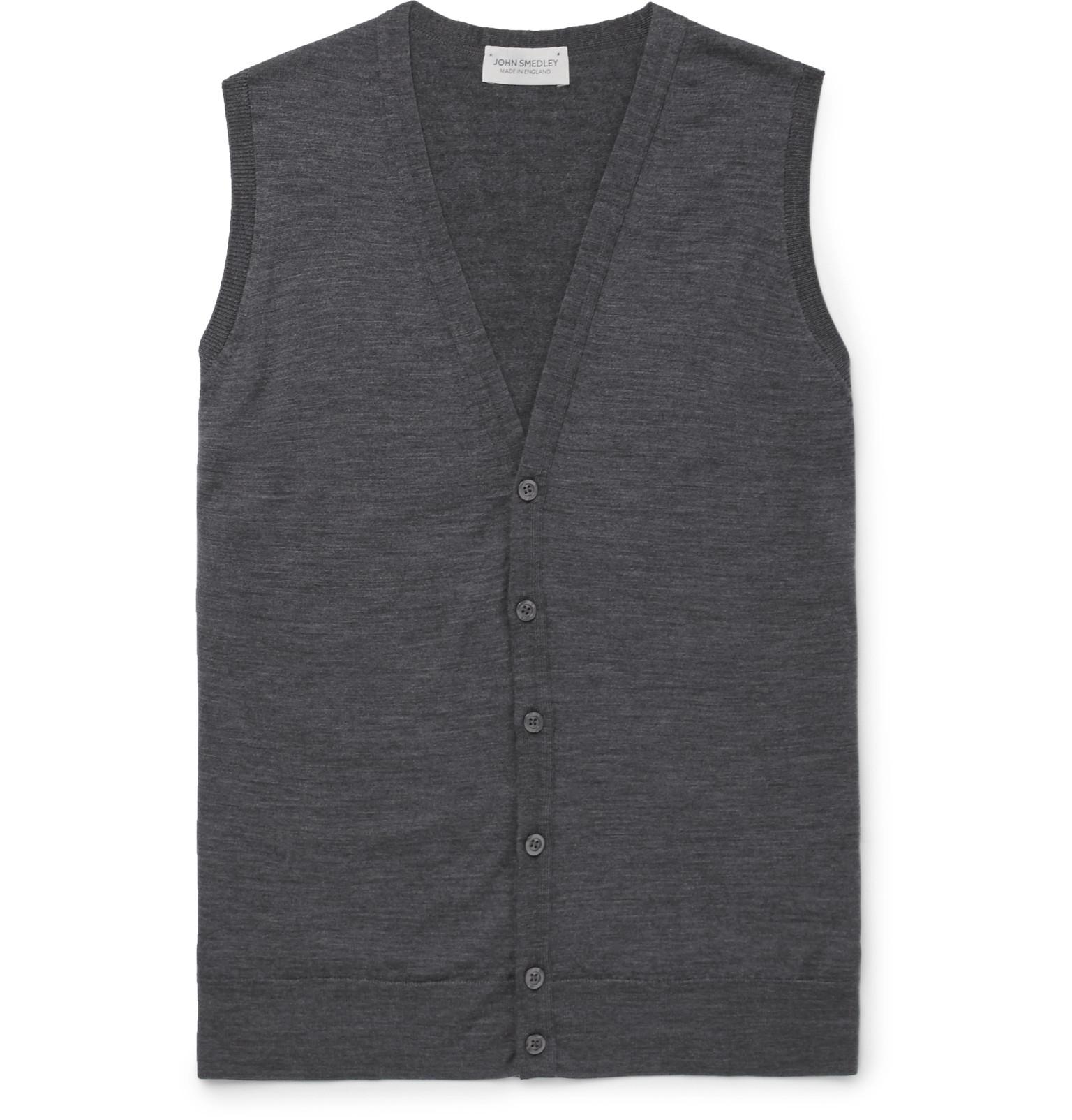 John Smedley - Huntswood Mélange Merino Wool Sweater Vest