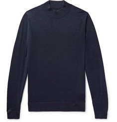 John Smedley Slim-Fit Wool Mock-Neck Sweater