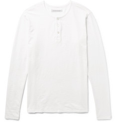 Outerknown Slub Organic Cotton-Jersey Henley T-Shirt