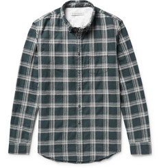 Outerknown Cascade Button-Down Collar Checked Cotton-Flannel Shirt