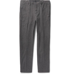 Outerknown Slim-Fit Bainbridge Checked Brushed Cotton-Twill Trousers