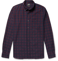 Todd Snyder Button-Down Collar Buffalo Checked Cotton-Poplin Shirt