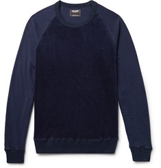 Todd Snyder Jersey-Panelled Cotton-Blend Terry Sweatshirt