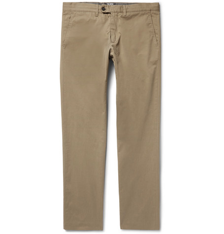 Hudson Cotton-twill Chinos - Beige
