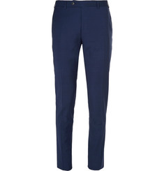 Canali Navy Kei Slim-Fit Wool Suit Trousers