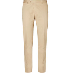 Canali Sand Kei Stretch-Cotton Suit Trousers