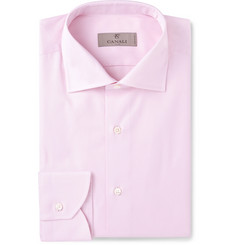 Canali - Pink Slim-Fit Cutaway-Collar Cotton-Twill Shirt