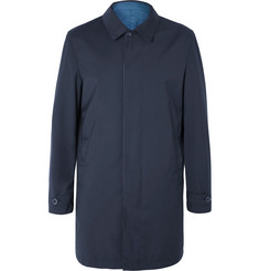 Canali - Reversible Super 150s Wool-Twill and Shell Raincoat