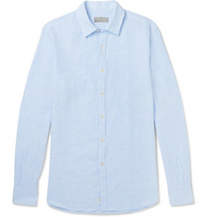 Canali - Slim-Fit Cutaway-Collar Slub Linen Shirt