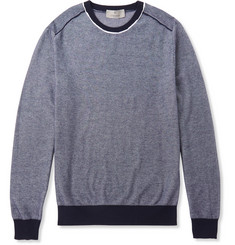 Canali Textured Cotton Sweater