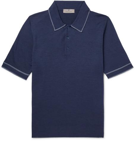 Wool Polo Shirt - Blue