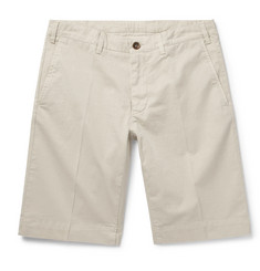 Canali Slim-Fit Stretch-Cotton Twill Shorts