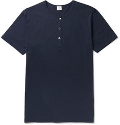 Sunspel Slim-Fit Cotton-Jersey Henley T-Shirt