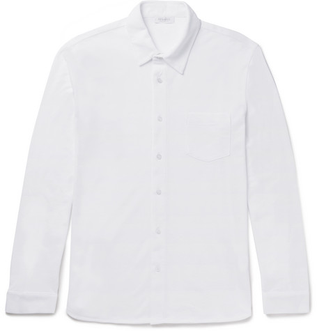 Cotton-piqué Polo Shirt - White
